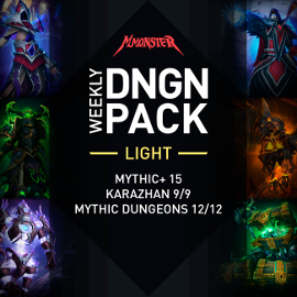 Weekly DNGN Light Raid Pack Karazhan 9/9 Mythic Dungeons 12/12 und Mythic+ 10